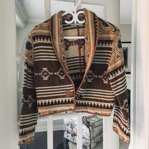 vintage navajo southwest crop jacket